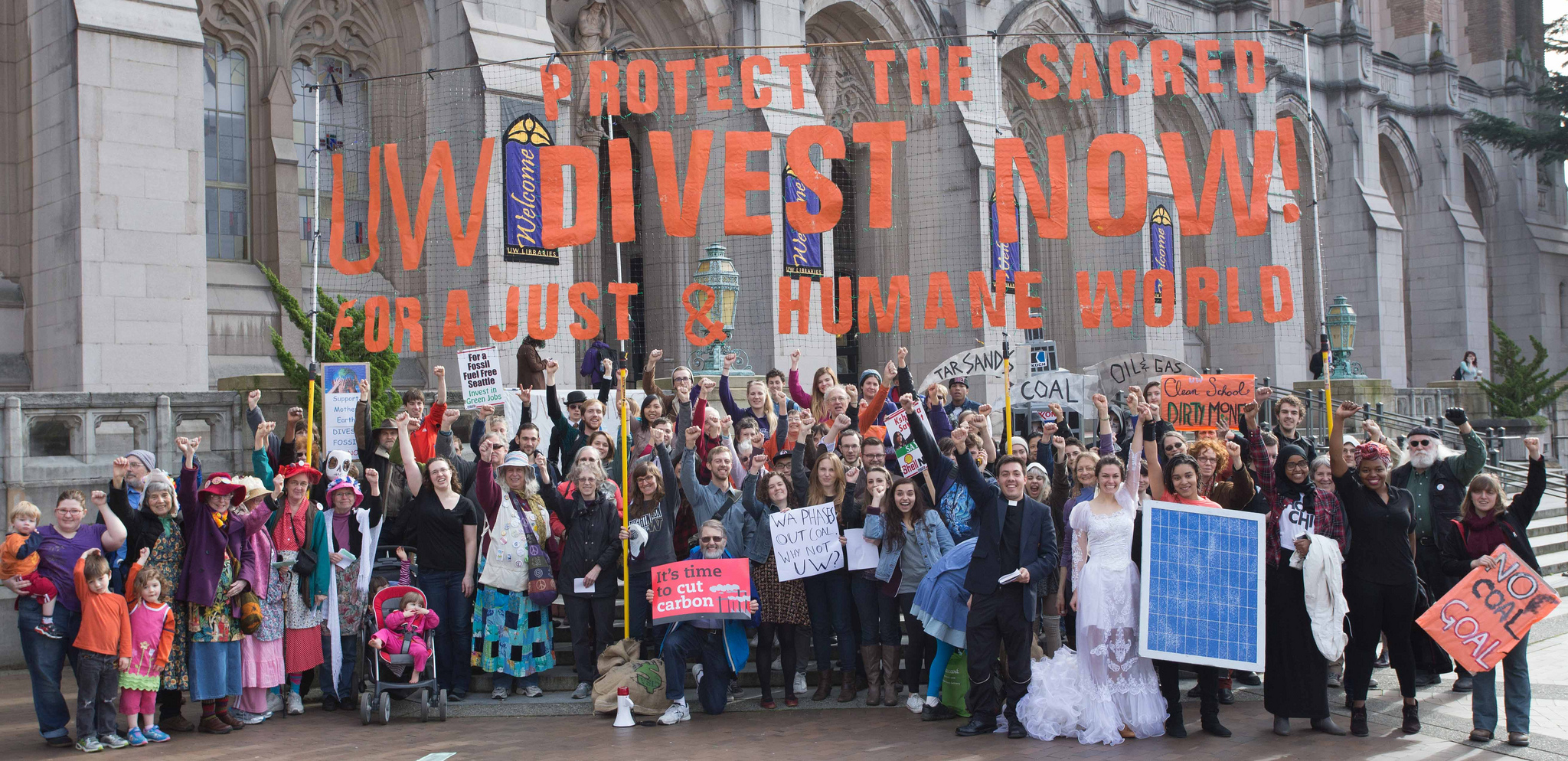 Global Divestment Day Action at University of Washington