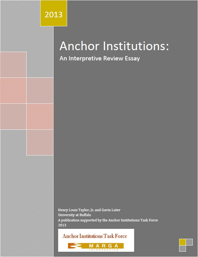 anchor institutions an interpretive review essay community  anchor institutions an interpretive review essay